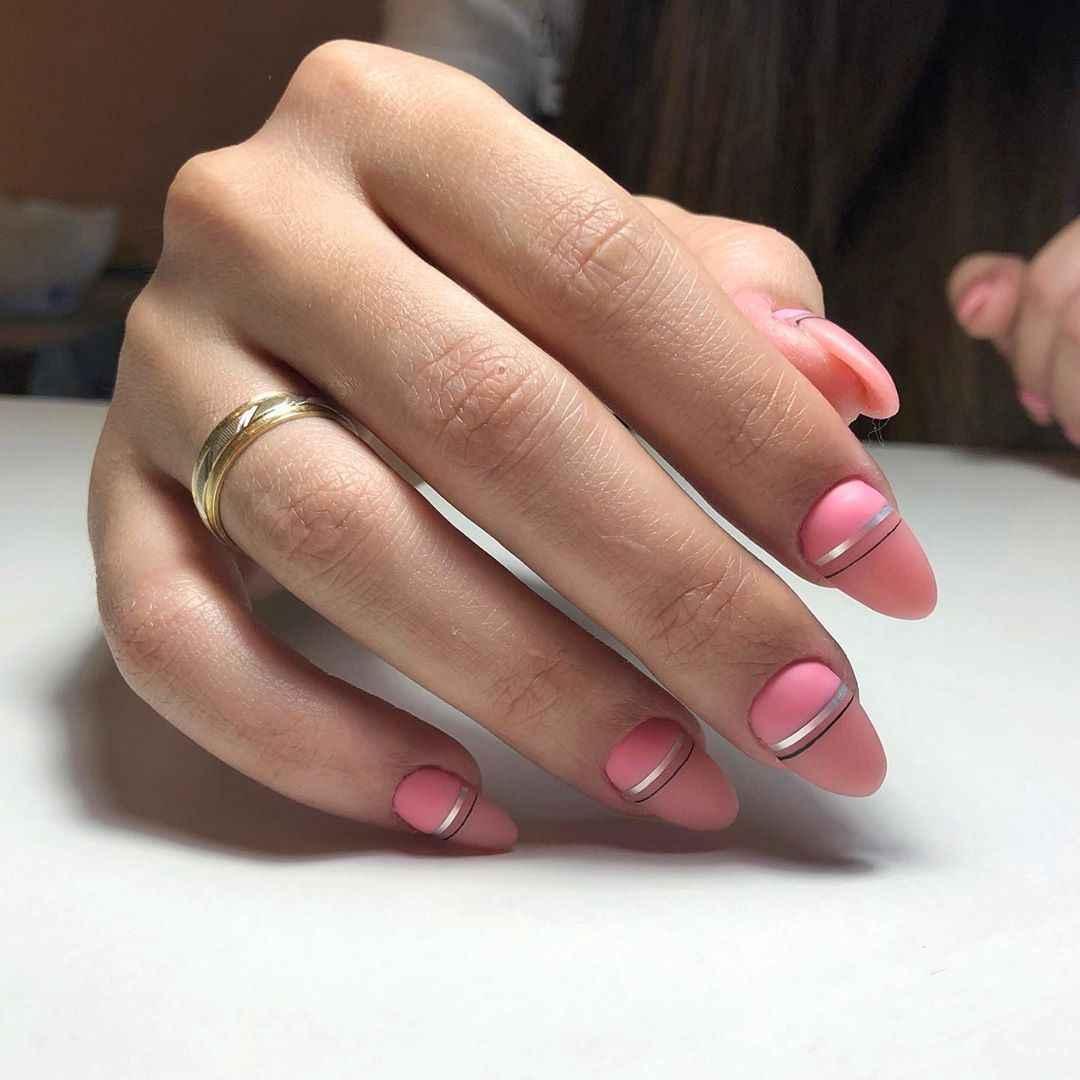 Нежно-розовый френч фото_25