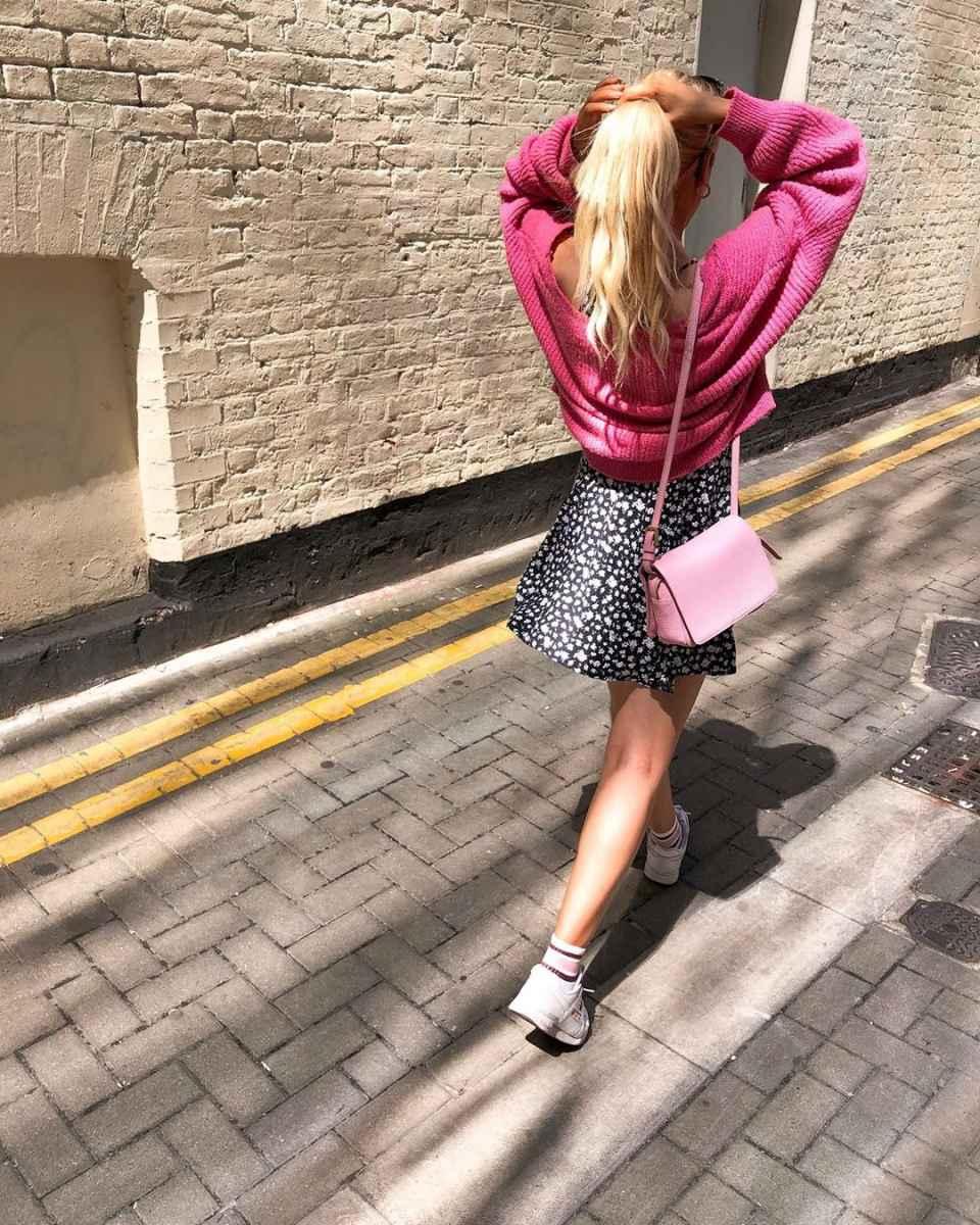 С чем носить розовый кардиган фото_5