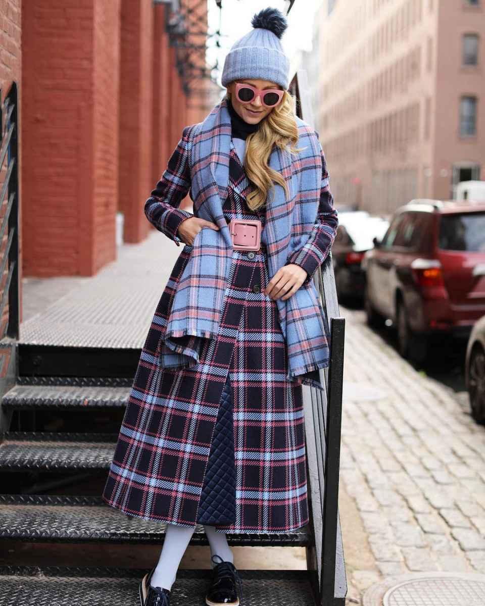Что носить на голове с пальто фото идеи_7