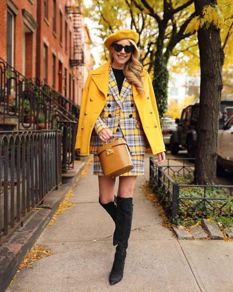 С чем носить пальто-пиджак фото_17
