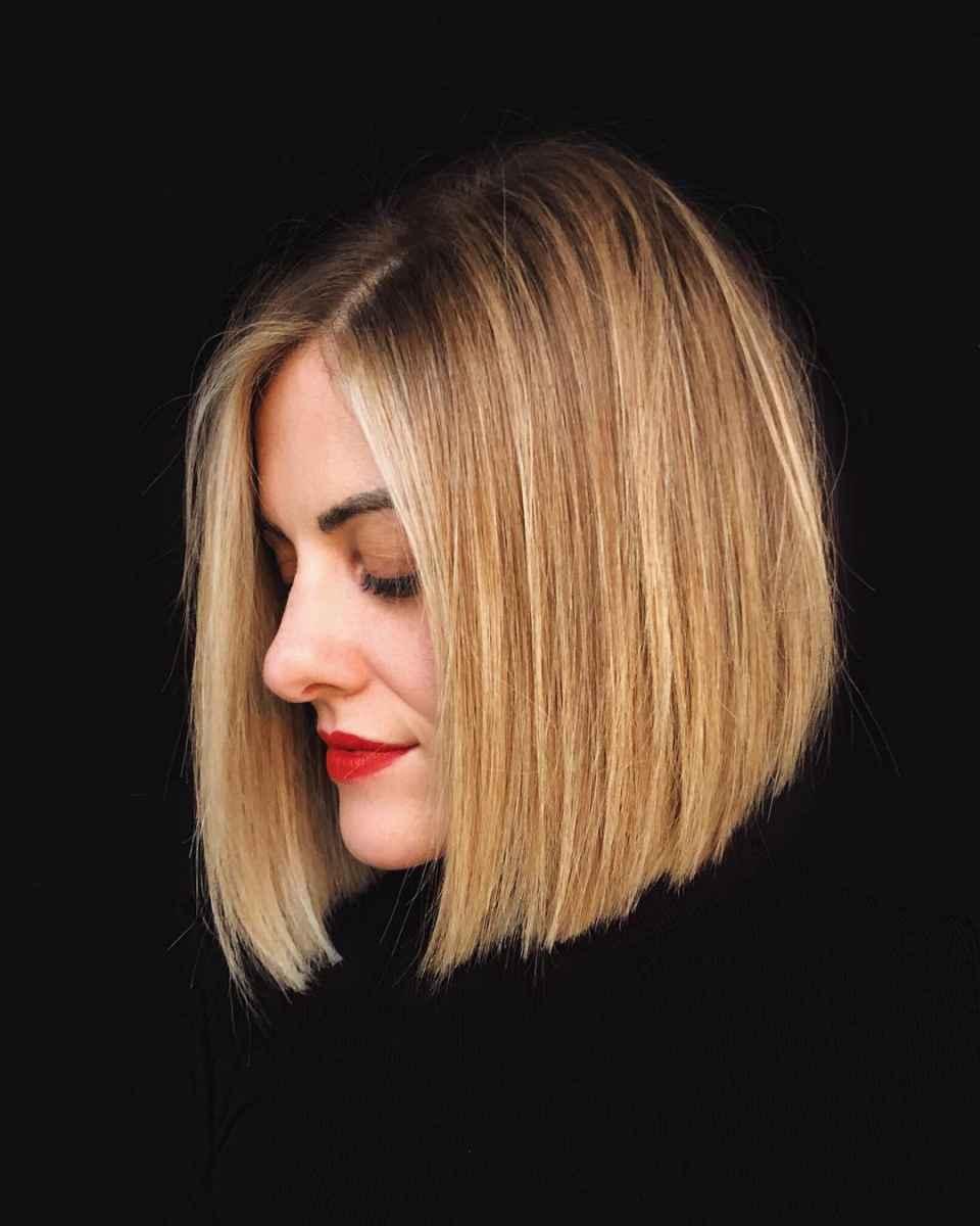 Стрижка каре для блондинки фото_19