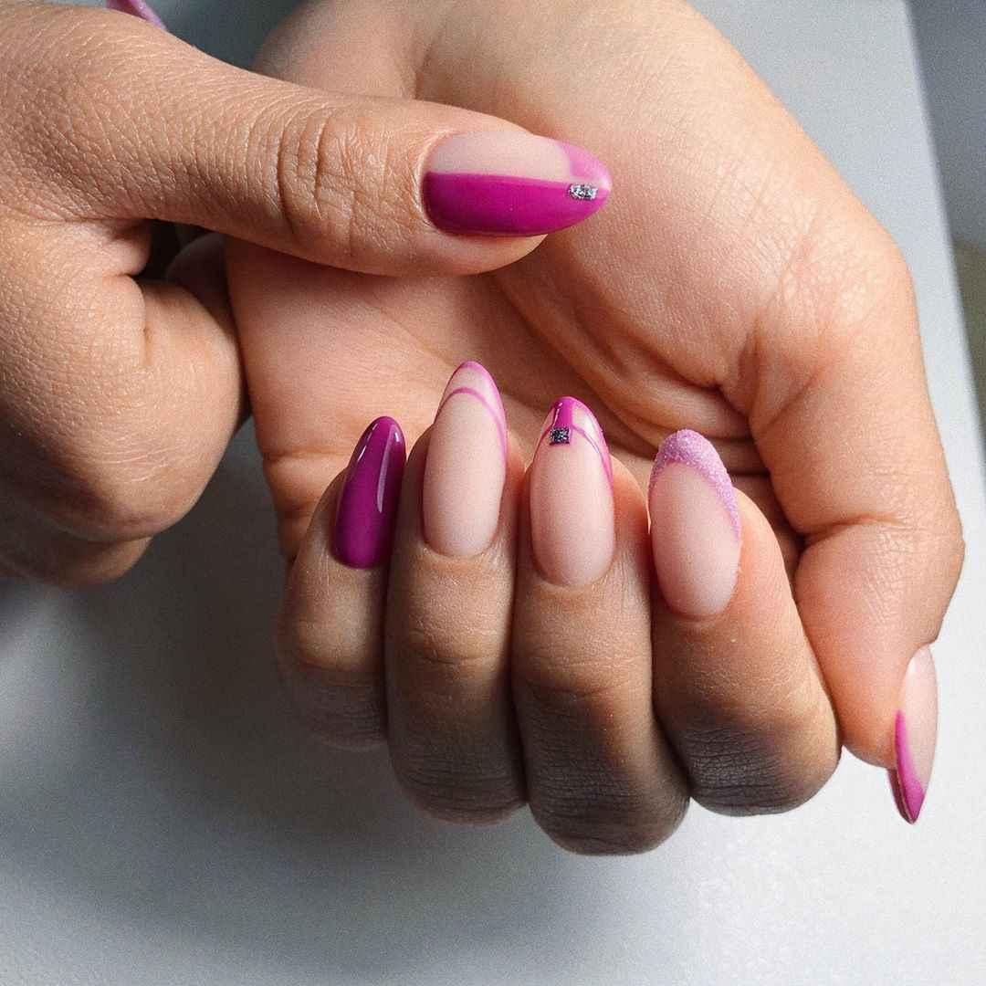 Нежно-розовый френч фото_40