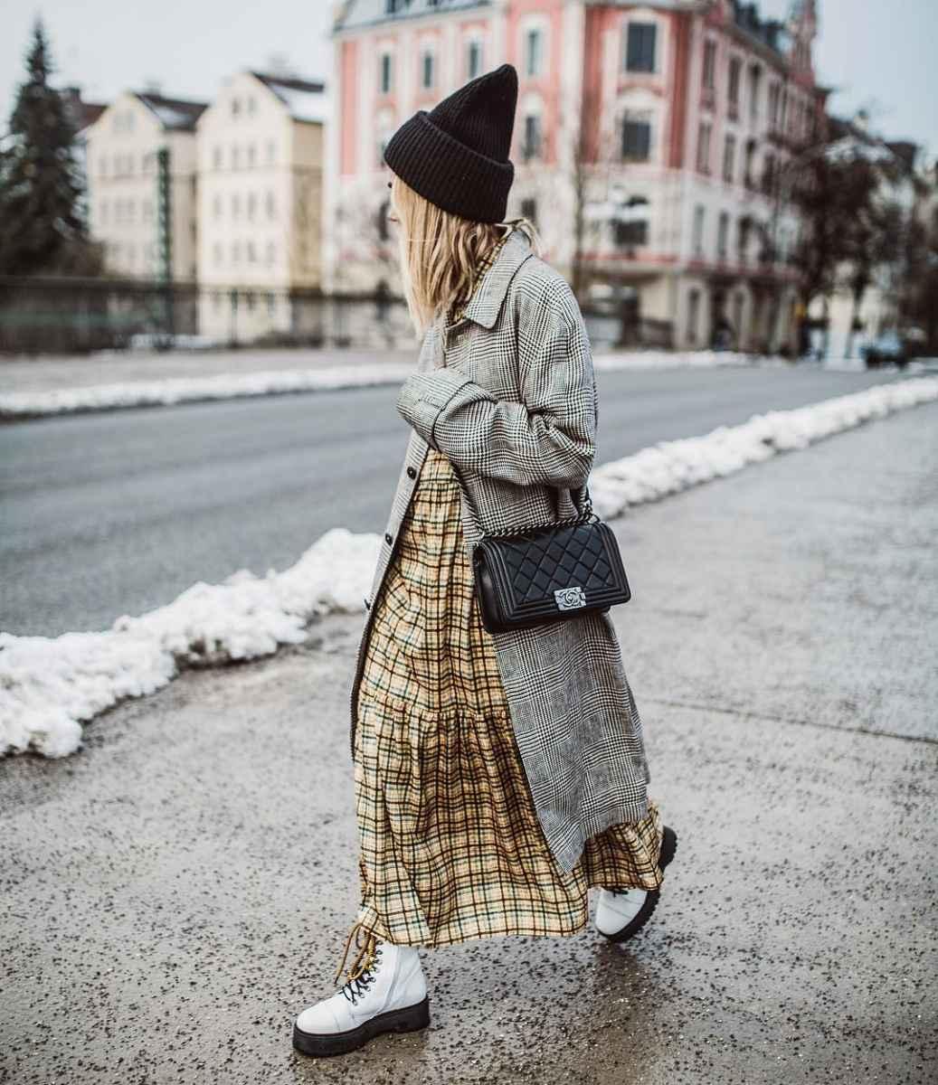 Что носить на голове с пальто фото идеи_9