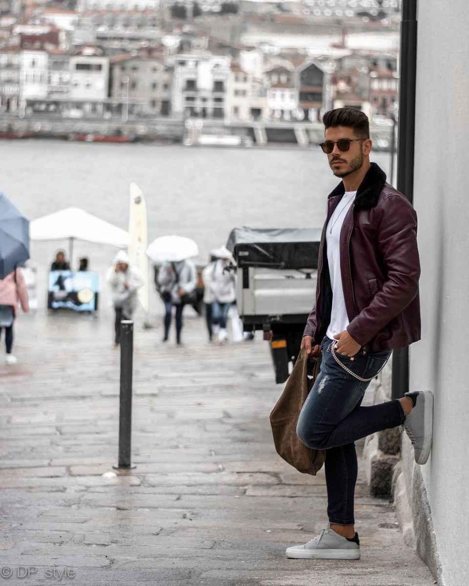 С чем носить кожаную куртку мужчине фото_9