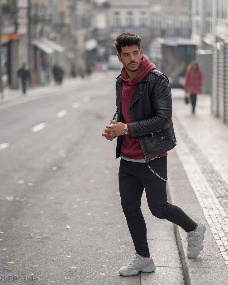 С чем носить кожаную куртку мужчине фото_111