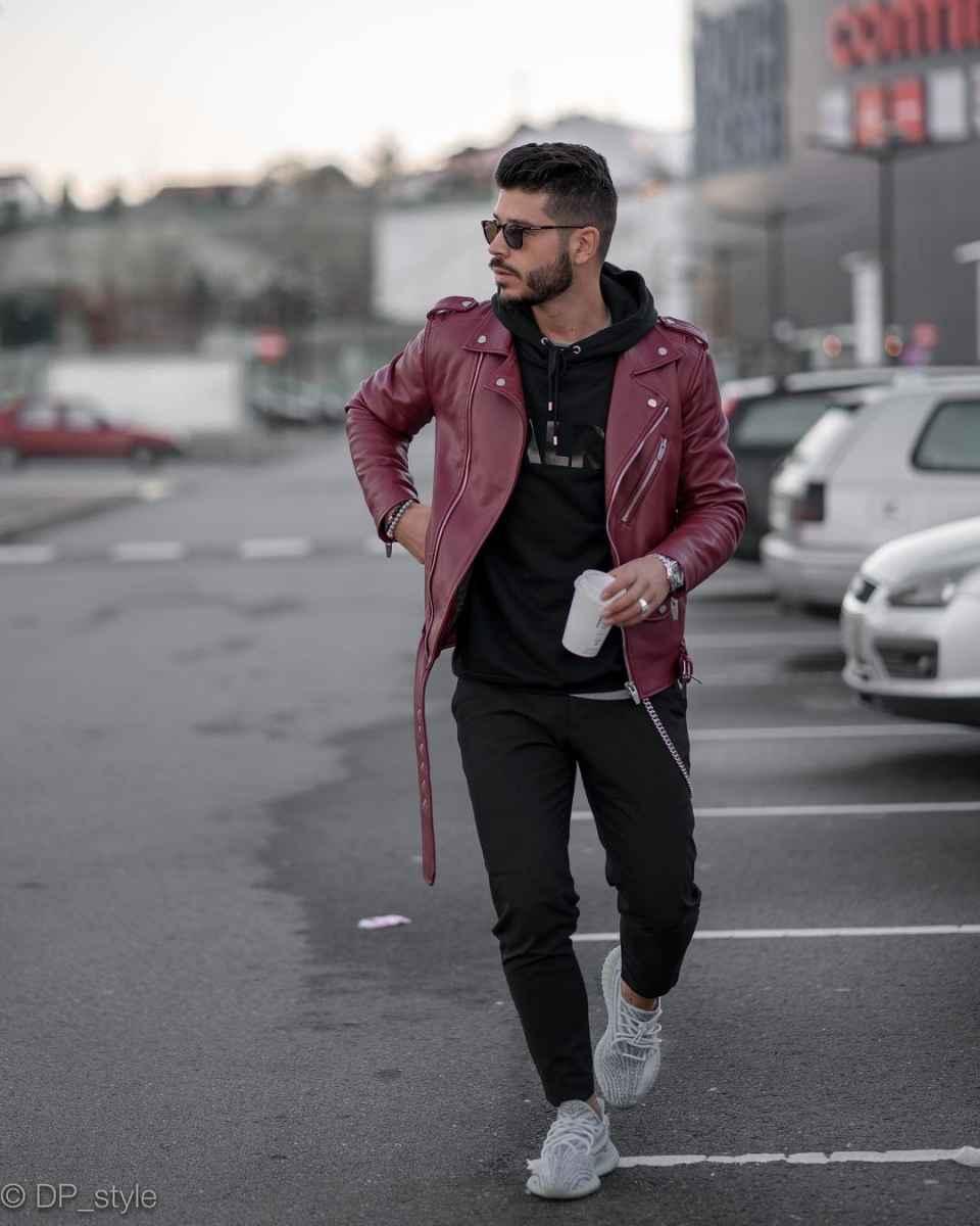 С чем носить кожаную куртку мужчине фото_12