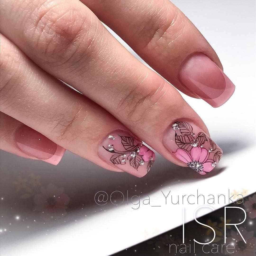 Нежно-розовый френч фото_28