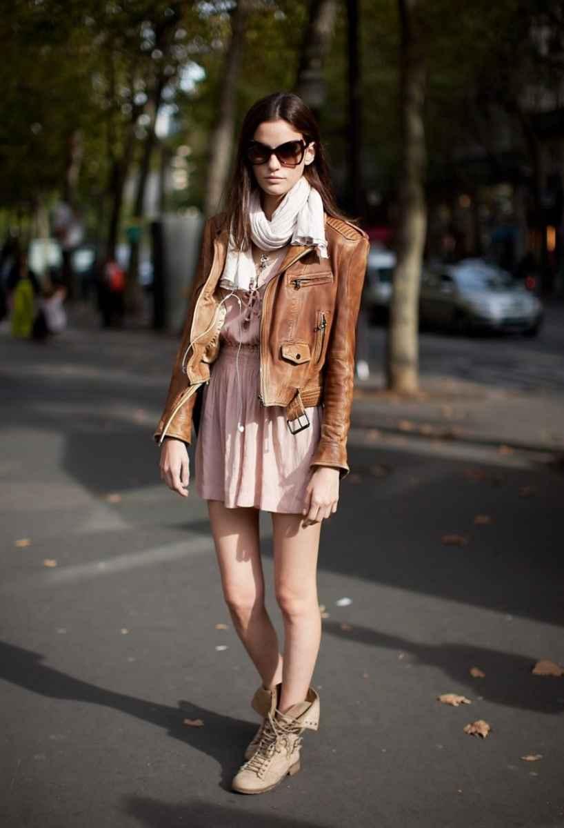 С чем носить кожаную куртку фото_3