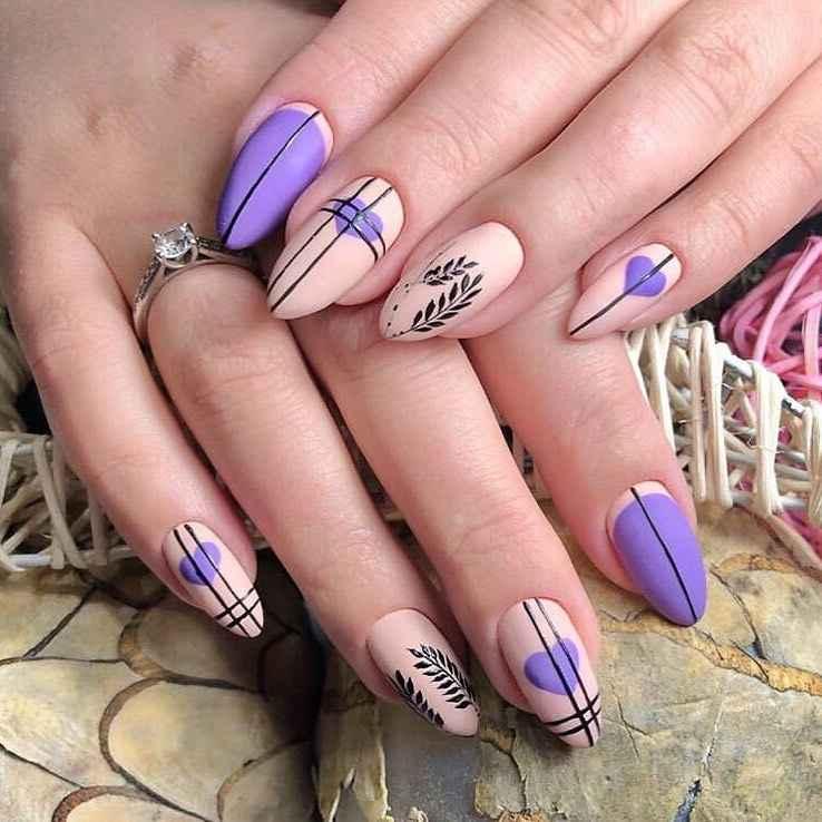 Фиолетовый френч с рисунком фото_11