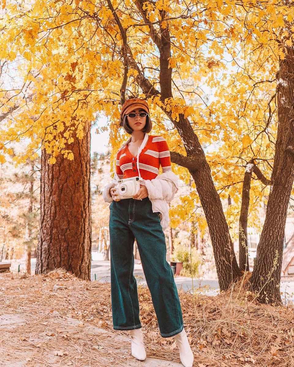 С чем носить красный кардиган фото_1