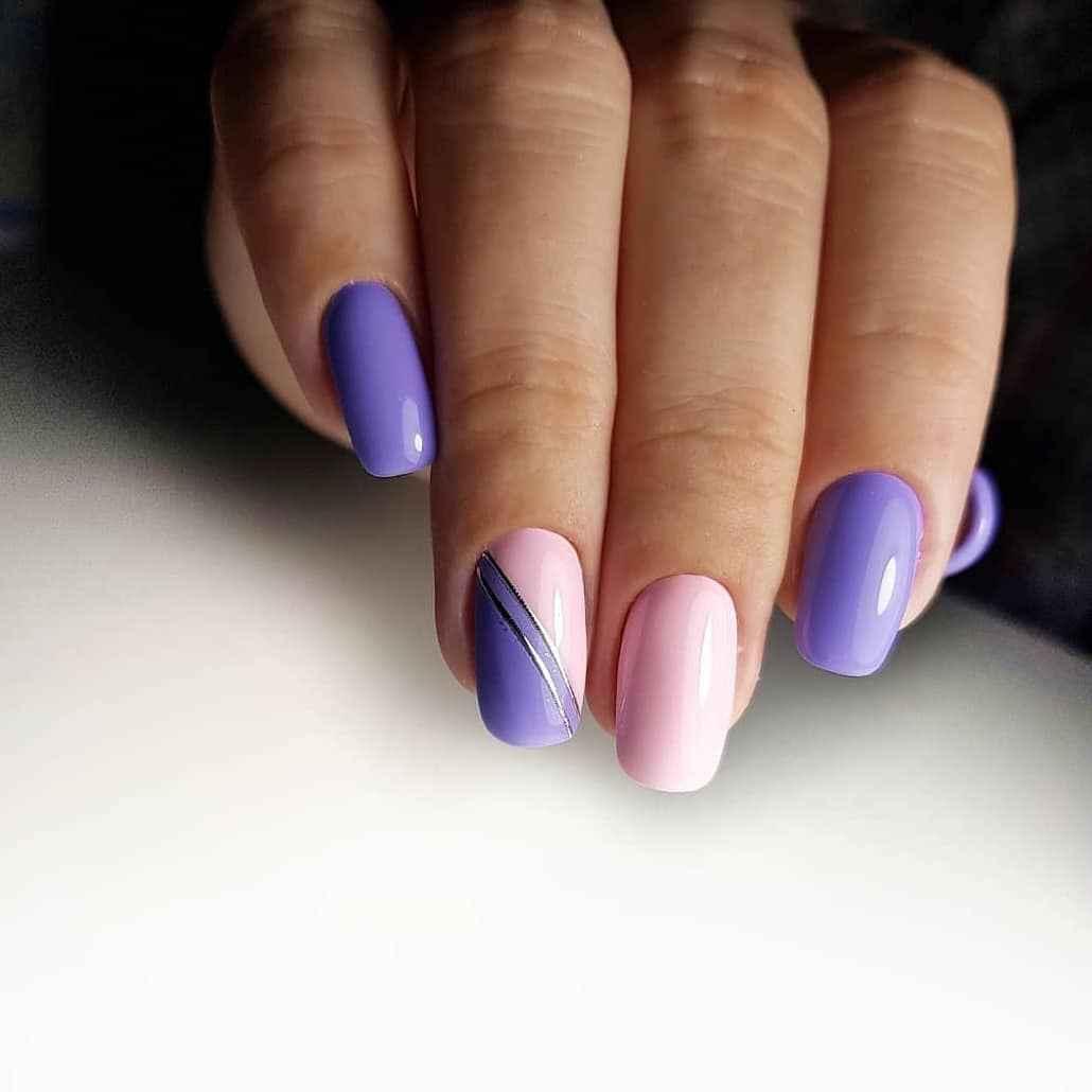 Фиолетовый френч с рисунком фото_12