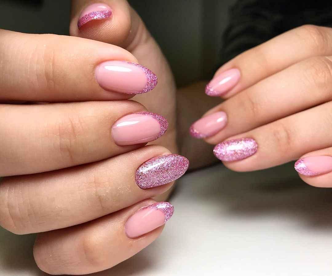 Нежно-розовый френч фото_42