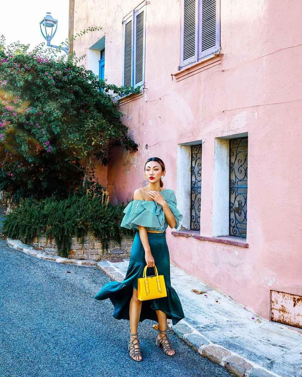 Шелковая юбка 2020 фото_46