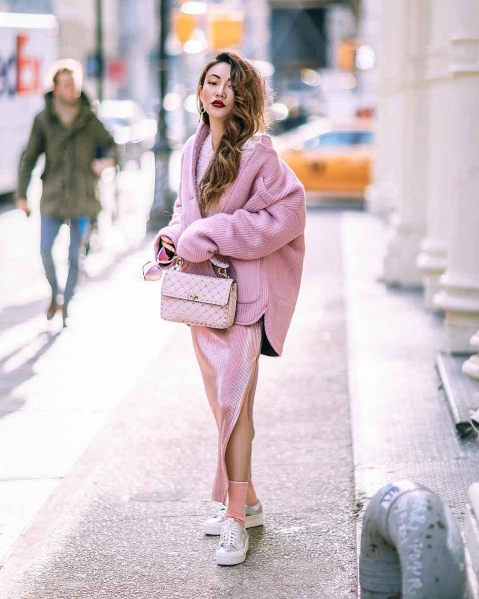 С чем носить пальто-пиджак фото_32