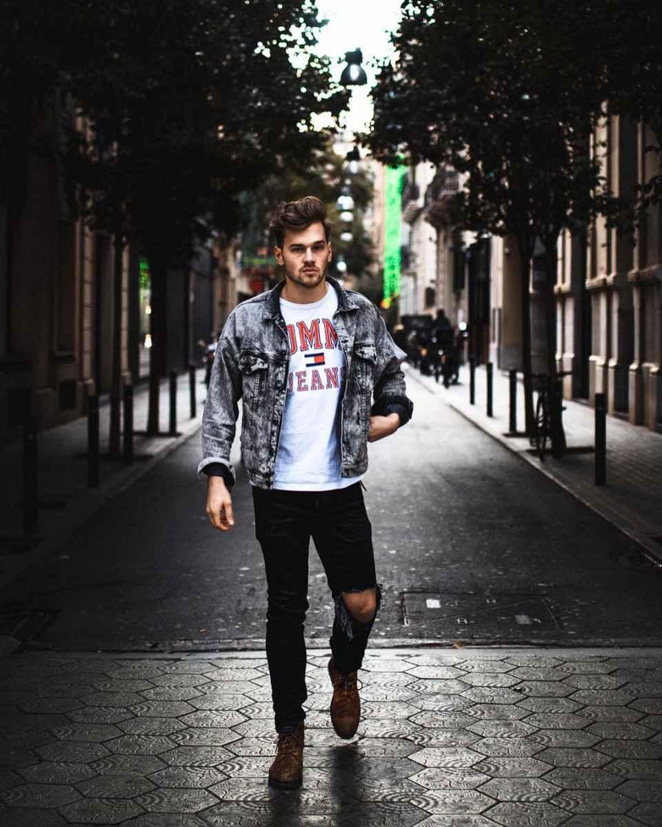 С чем носить джинсовую куртку мужчинам фото_40