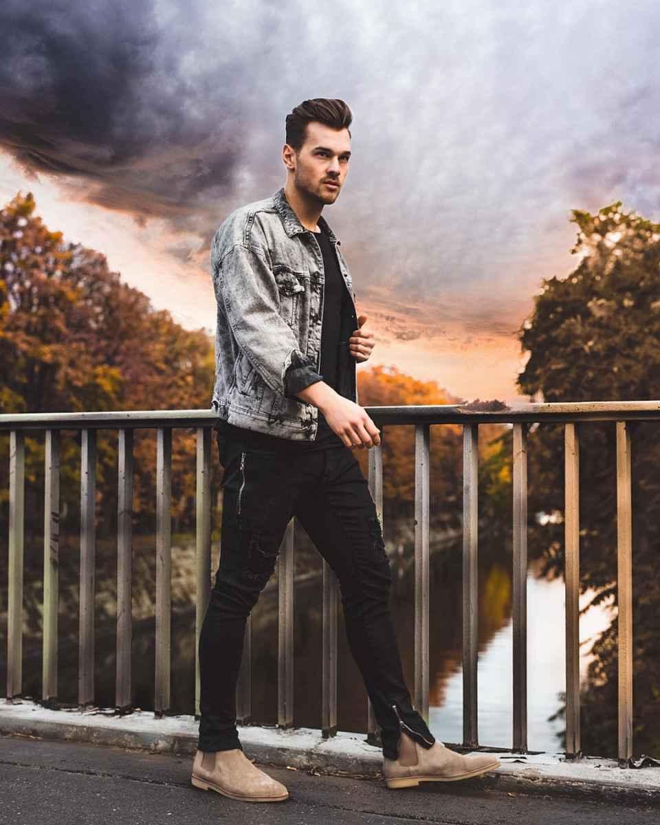 С чем носить джинсовую куртку мужчинам фото_39