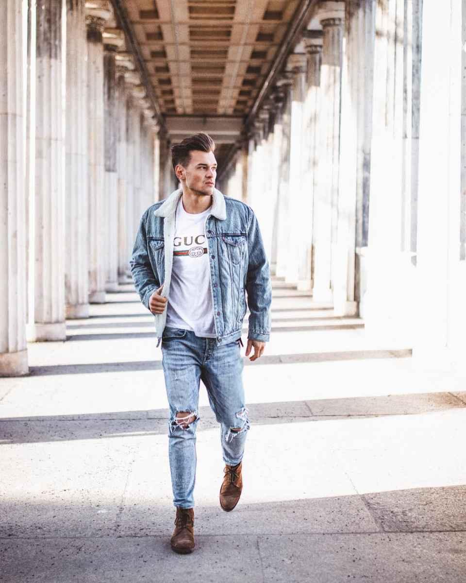 С чем носить джинсовую куртку мужчинам фото_38
