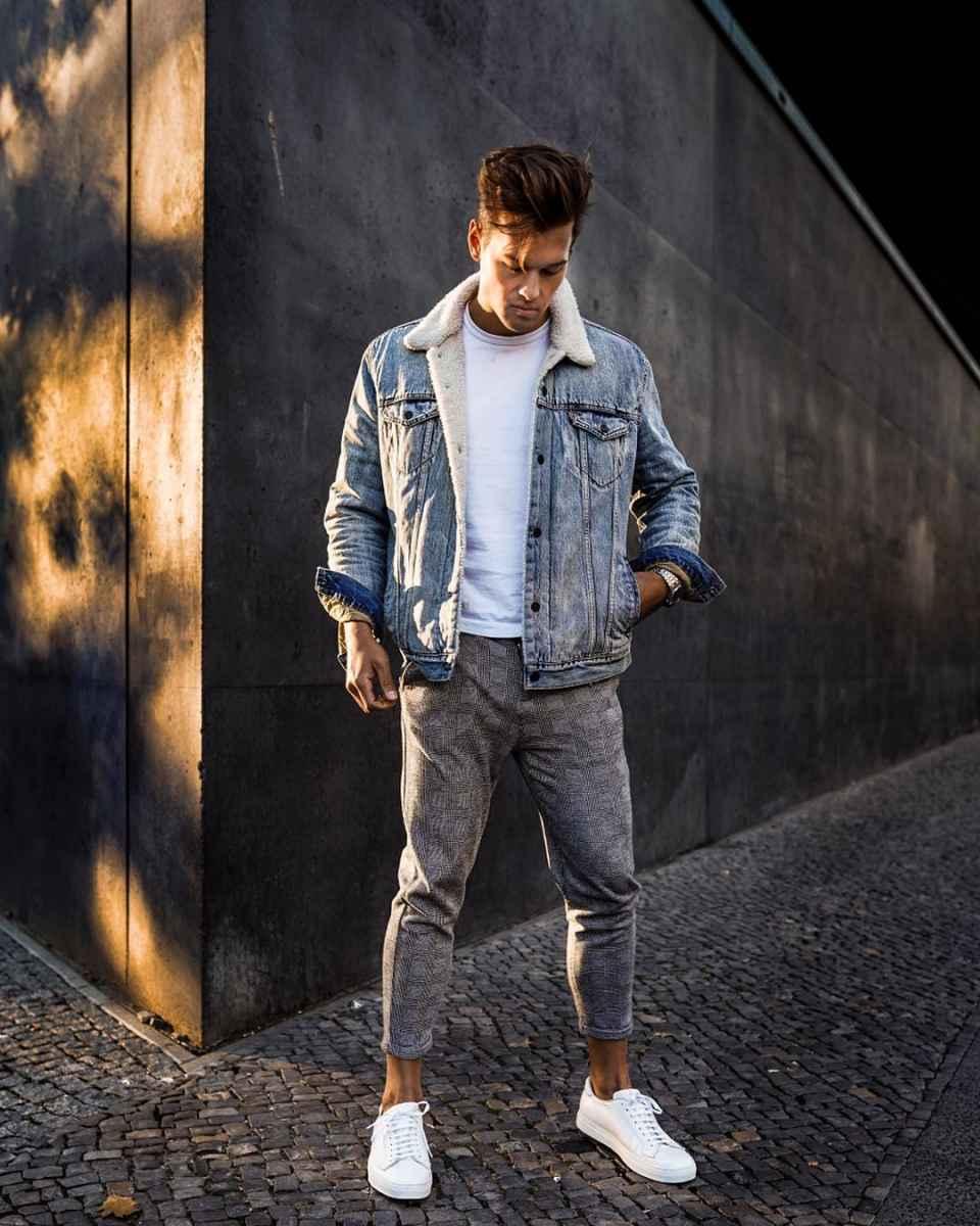 С чем носить джинсовую куртку мужчинам фото_32