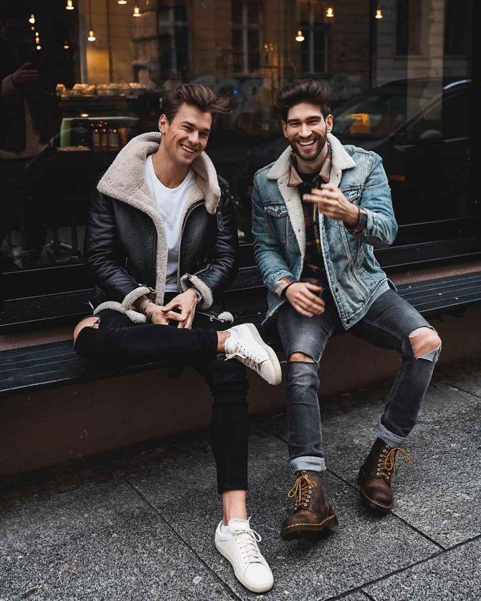 С чем носить джинсовую куртку мужчинам фото_26