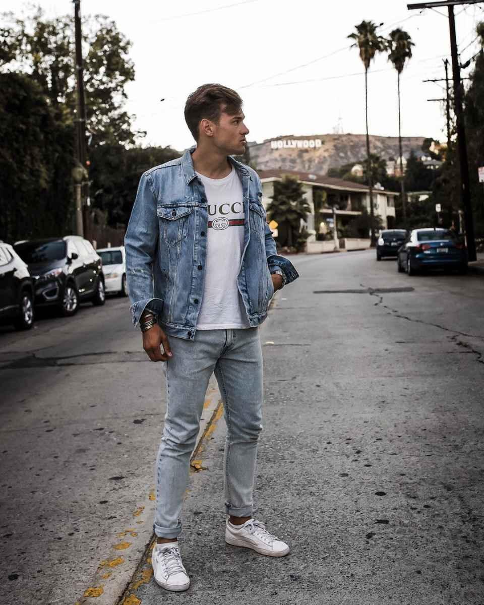 С чем носить джинсовую куртку мужчинам фото_22