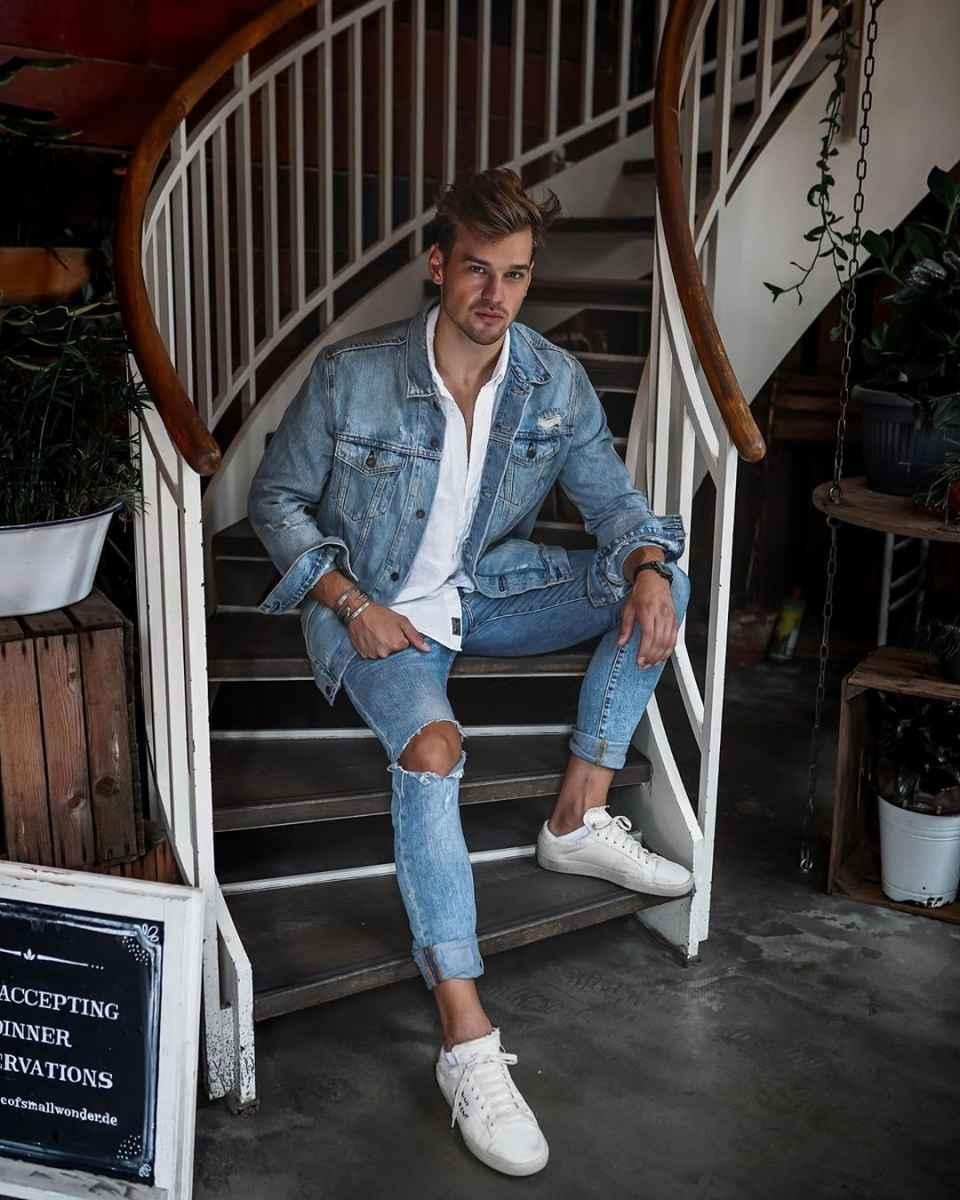 С чем носить джинсовую куртку мужчинам фото_21