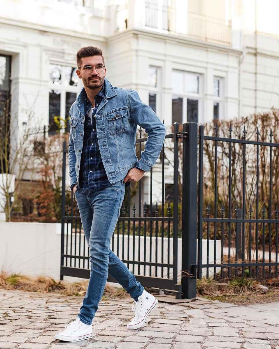 С чем носить джинсовую куртку мужчинам фото_12