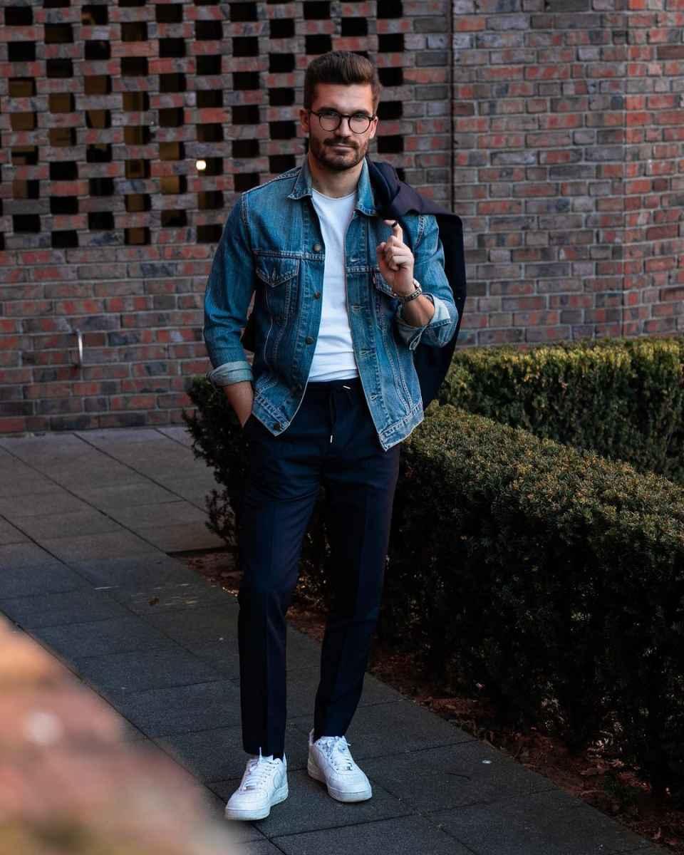 С чем носить джинсовую куртку мужчинам фото_11