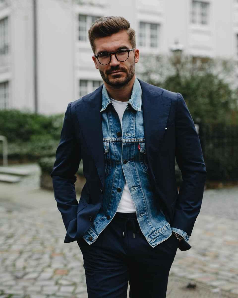 С чем носить джинсовую куртку мужчинам фото_10