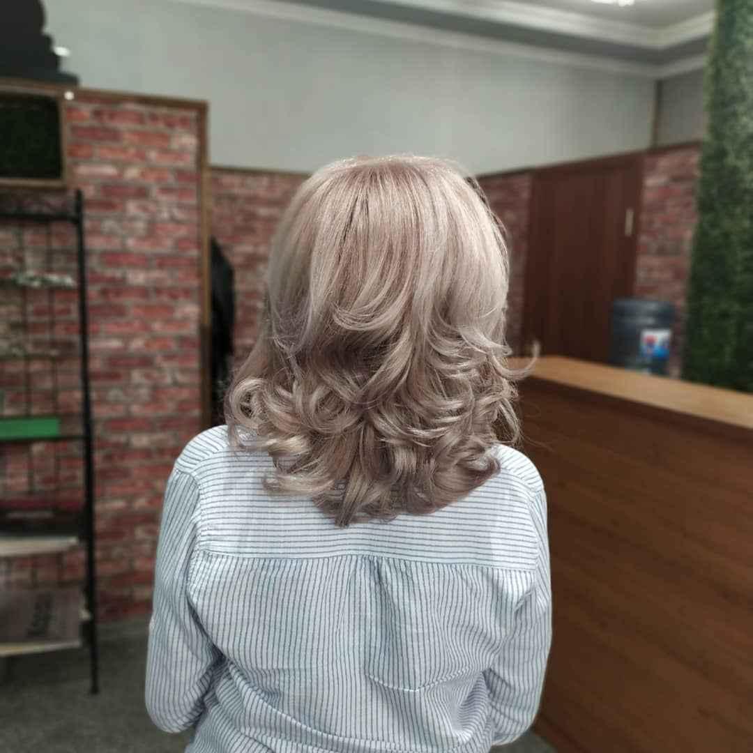 Стрижка рапсодия на средние волосы: вид сзади фото_1