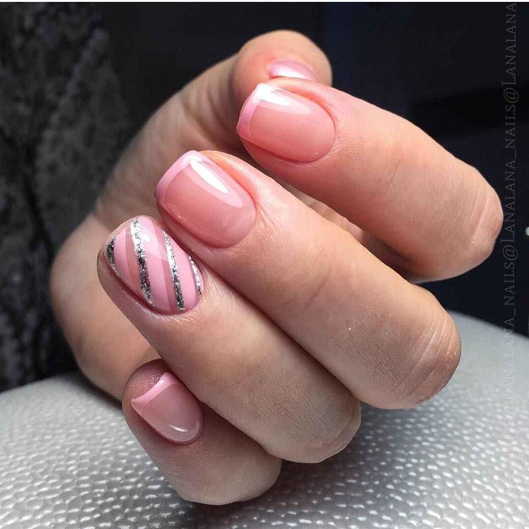 Нежно-розовый френч фото_38