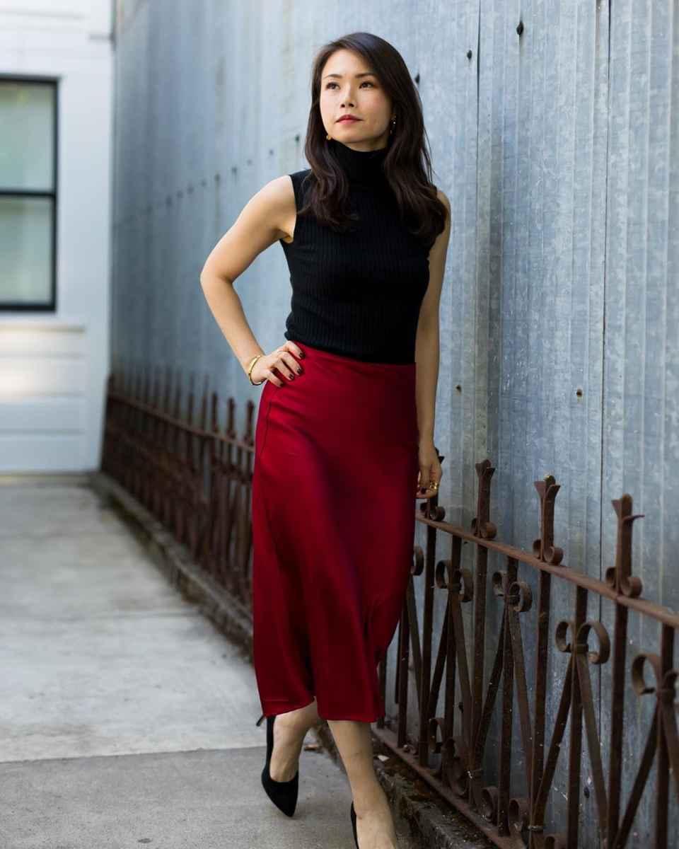 Шелковая юбка 2020 фото_24