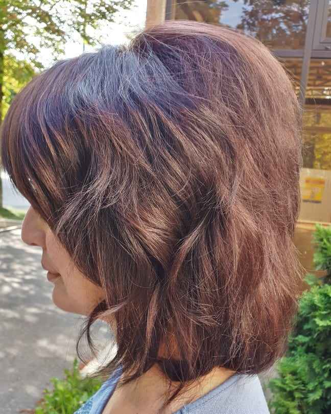 Стрижка рапсодия на средние волосы: вид сбоку фото_1