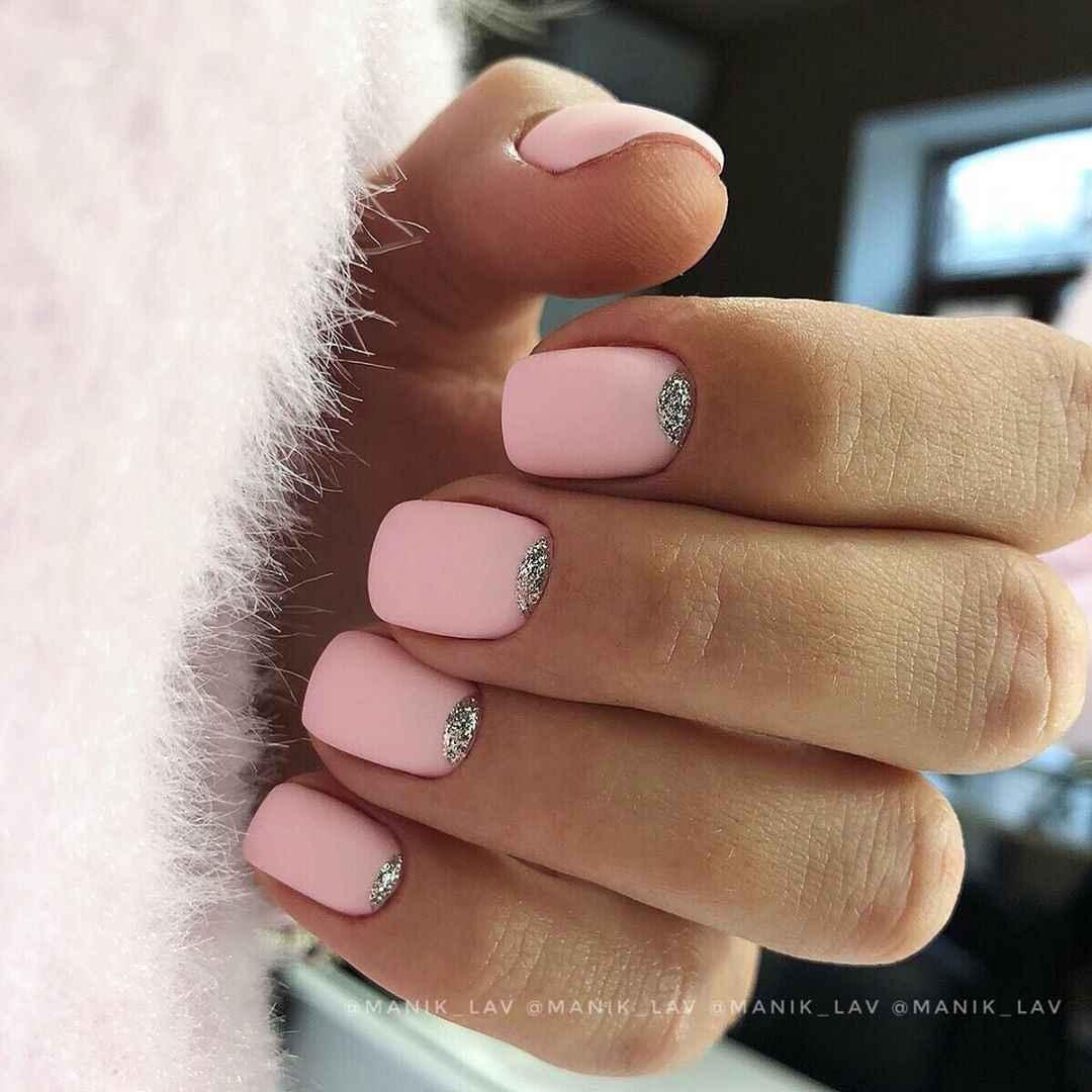 Нежно-розовый френч фото_20