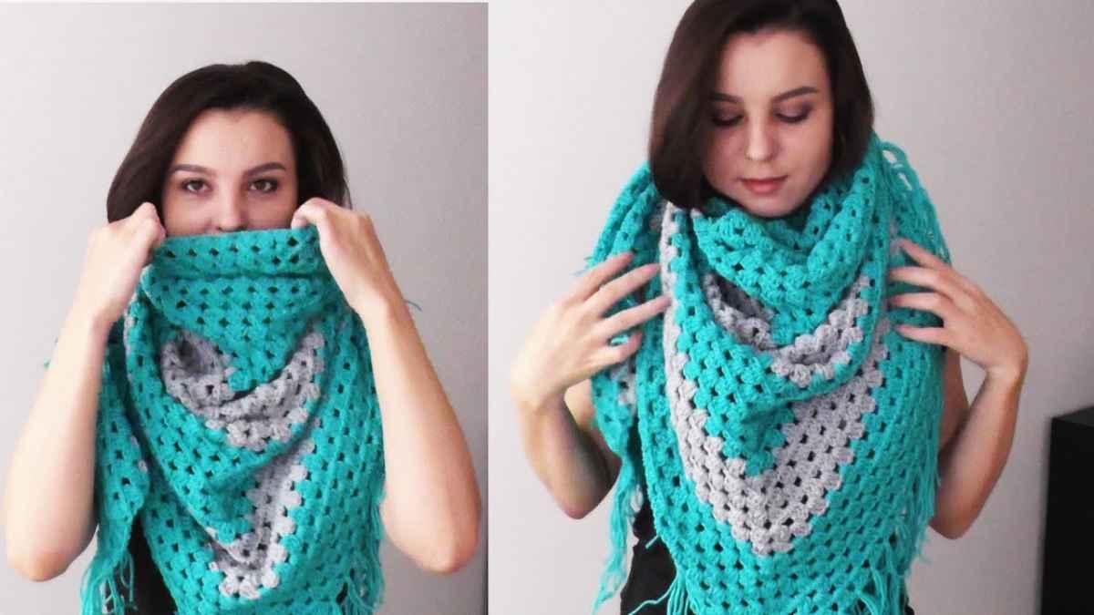 Как носить платок, связанный спицами фото_17