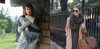 Как носить платок, связанный спицами фото