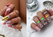 Разноцветный френч на ногтях фото идеи