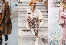 С чем носить плюшевое пальто фото идеи