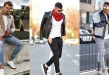 С чем носить кожаную куртку мужчине фото идеи