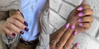 Фиолетовый френч фото идеи