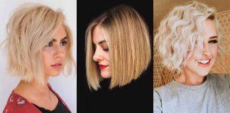 Стрижка каре для блондинки фото