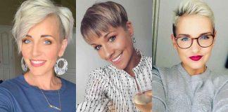 самые стильные короткие стрижки для женщин 50-60 лет фото идеи