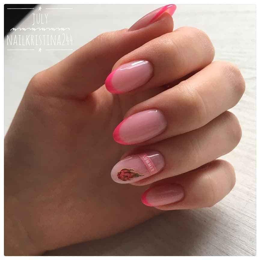 Нежно-розовый френч фото_45