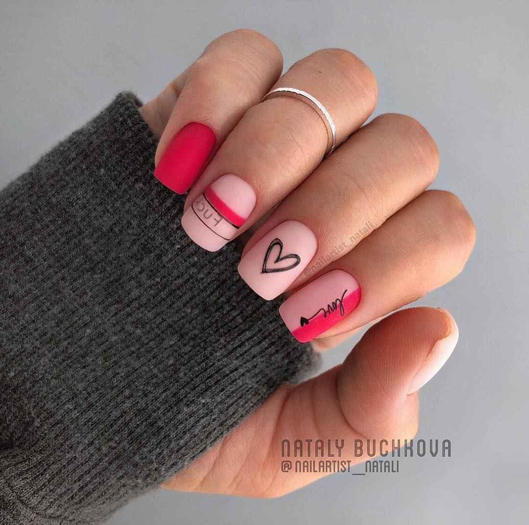 Необычный френч на ногтях фото_50
