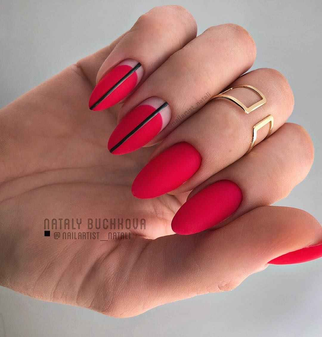 Необычный френч на ногтях фото_47