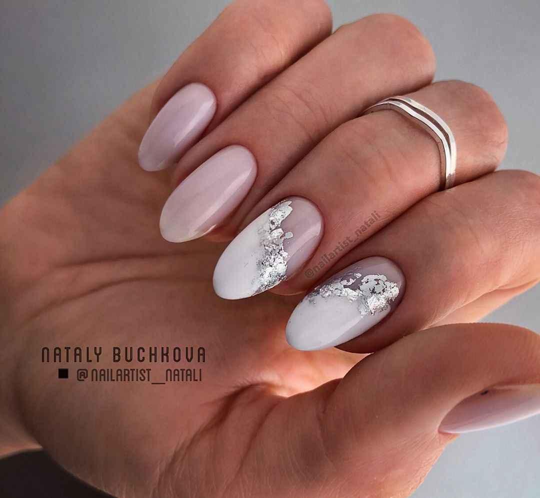 Необычный френч на ногтях фото_28