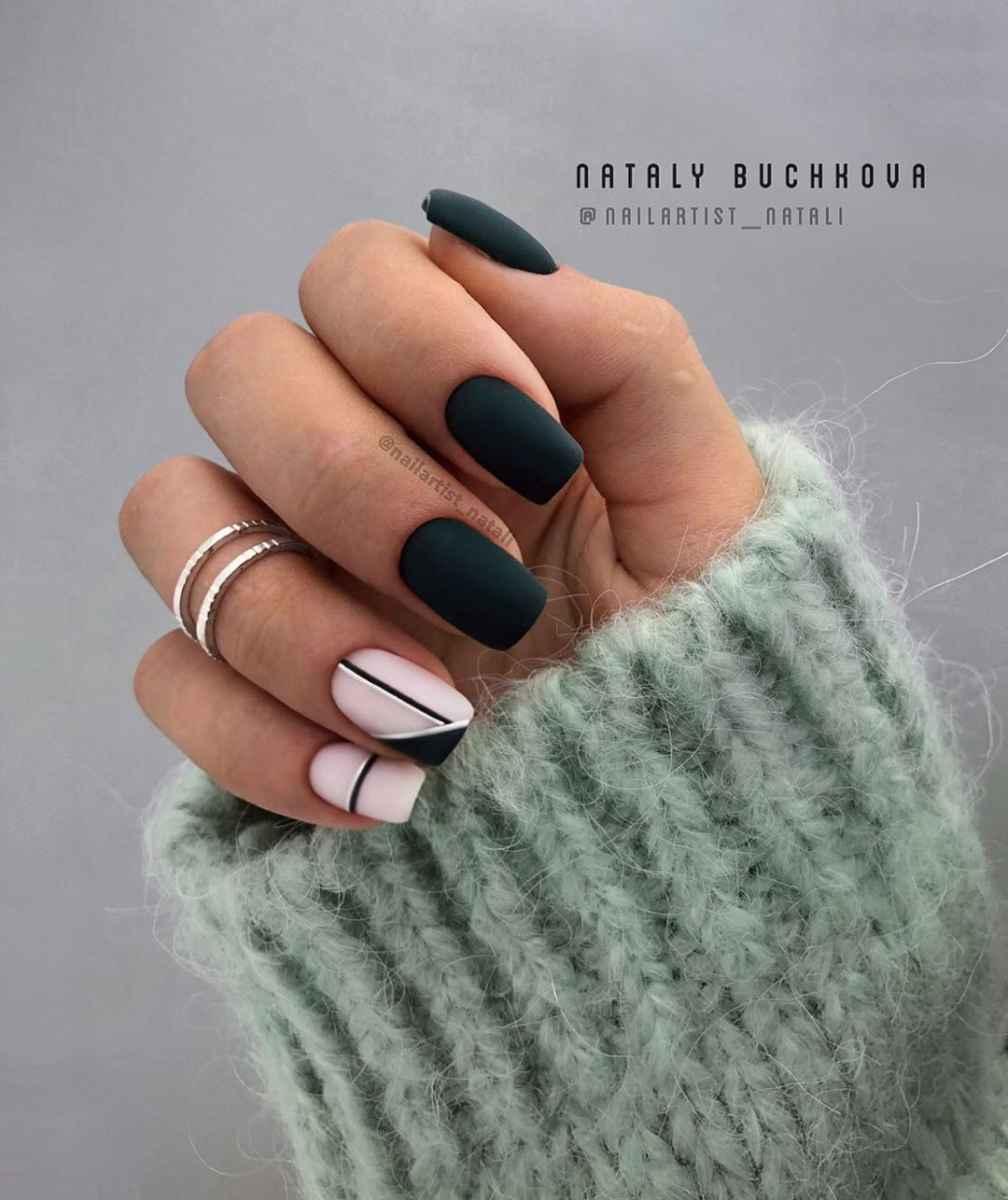 Необычный френч на ногтях фото_24