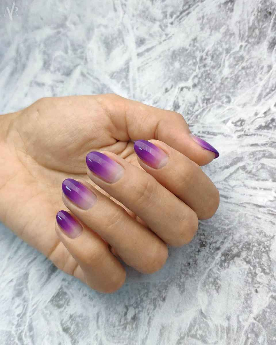 Фиолетовый френч-омбре фото_6