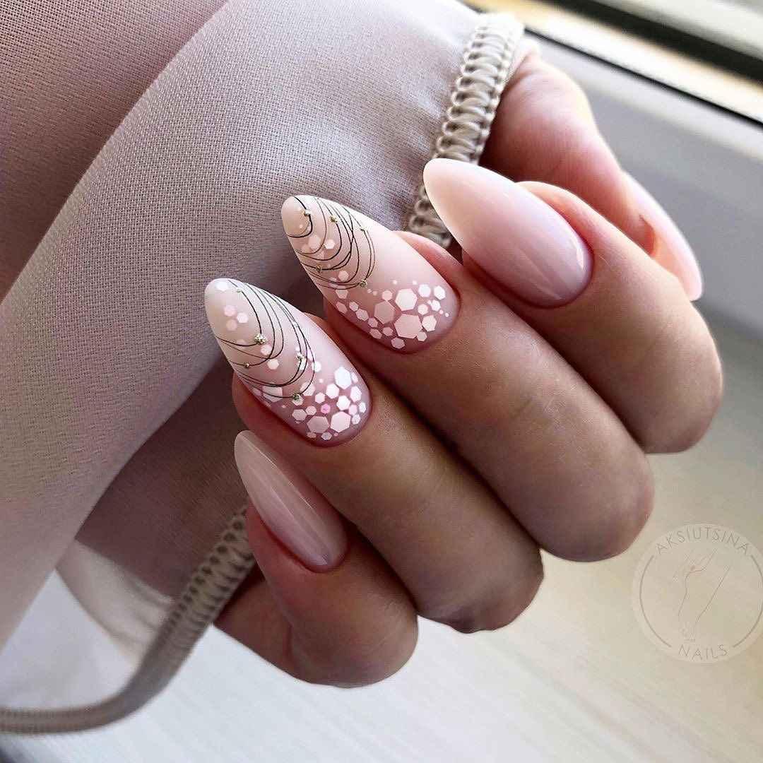 Нежно-розовый френч фото_12