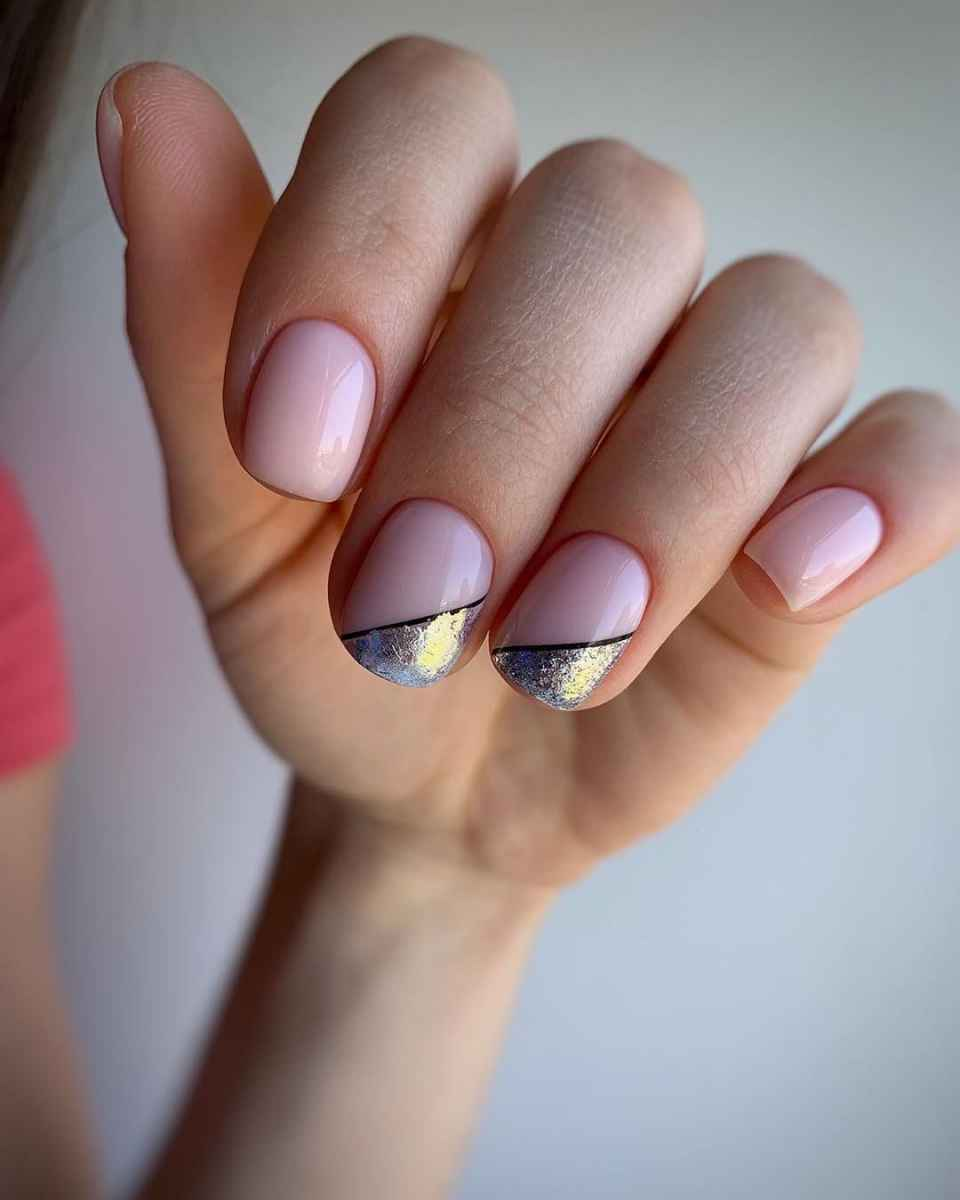 Нежно-розовый френч фото_11