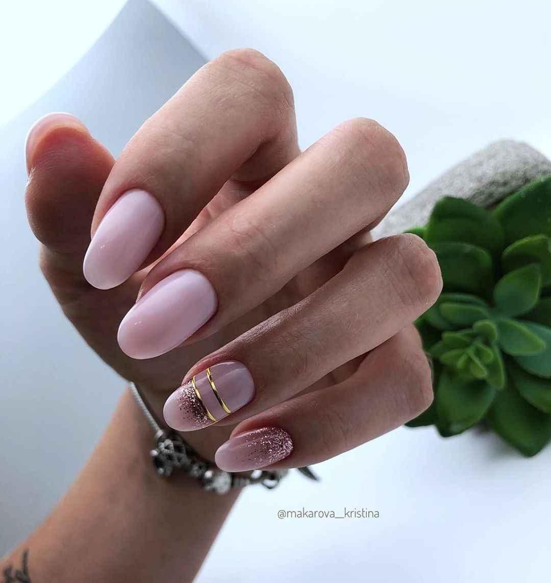 Нежно-розовый френч фото_1